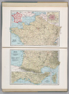 France (Northern Part). 19. (inset) France in Provinces before 1789. (inset) Paris and Vicinity. France (Southern Part). 2467. (inset) Vicinity of Marseille. (inset) Corsica (Corse).