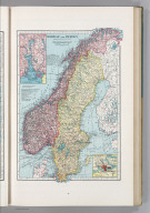 Norway and Sweden. 28. (inset) Oslo Fjord and Vicinity. (inset) Stockholm and Vicinity.