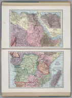 Africa (Northeast Part). 8467. (inset) Nile-Delta and Suez Canal. Africa (Central Part). 7386. (inset) Madagascar.