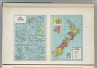 Islands of the Pacific Ocean. Dominion of New Zealand. 2472. (insets of vicinities of) Auckland, Wellington, and Chatham Island.