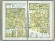 New Mexico. P6376. (inset) Silver City and Vicinity. (inset) Albuquerque and Vicinity. (inset) Santa Fe and Vicinity). Arizona. 2389.