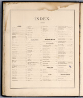 Index: Table of Contents.