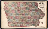 Sectional Map of Iowa.