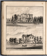 View: Residences of Francis Springer, M. Maclean, Louisa County, Iowa.
