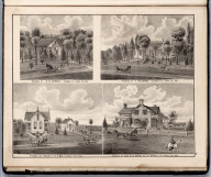 View: Residences of D.W. Overholt, H. Willmering, H.P. May, N.R. Steele, Louisa County, Iowa.