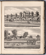 View: Residences of R.H. Moore, Cyril Carpenter, Louisa County, Iowa.
