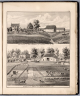 View: Residences of Philip Thompson, S.C. Curtis, Louisa County, Iowa.