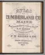 Title Page: [facsimile] Atlas Of Cumberland County, Maine.