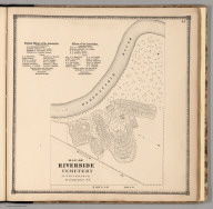 Map of Riverside Cemetary at Gouverneur, Saint Lawrence, New York.