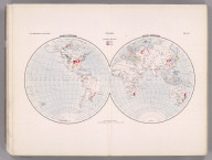 Coal Resources of the World. Hemispheres. Map No. 1. Western Hemisphere. Eastern Hemisphere.