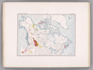Coal Resources of the World. Canada. Map No. 21. Plate 1. Coal Areas of Canada by D.B. Dowling.