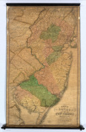 A Map of the State of New Jersey With Part of the Adjoining States Compiled under the Patronage of the Legislature of Said State by Thomas Gordon, 1828.