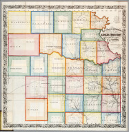 Map Of Kansas Territory.