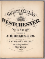 Title: County Atlas Of Westchester New York.
