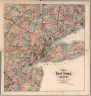 Map of New York and Vicinity Accompanying Atlas of Westchester County, New York.