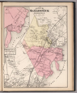 Town of Mamaroneck, Westchester County, New York. (inset) Orienta.