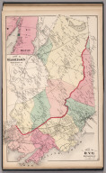 Towns of Harrison and Rye, Westchester County, New York. (inset) Milton.