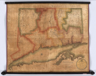 Connecticut, From Actual Survey, Made in 1811, By and under the Direction of, Moses Warren and George Gillet, And by them Compiled. Published under the Authority of The General Assembly, By Hudson & Goodwin. Engraved By Abner Reed, E. Windsor. Entered ... 29th day of May, 1813 - By Hudson & Goodwin ... Connecticut. To His Excellency Roger Griswold, Esq. And to The Honourable, The Legislature of The State of Connecticut, This Map is Respectfully Inscribed By the Publishers. Hartford, February 1812.