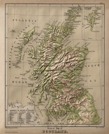 Physical Map of Scotland.
