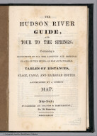 Title Page: Hudson River Guide