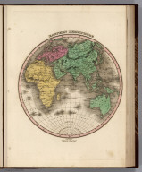 Eastern Hemisphere. Young & Delleker Sc. Published by A. Finley Philada.