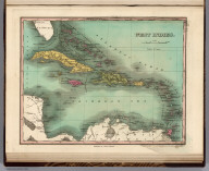 West Indies. Young & Delleker Sc. Published by A. Finley Philada.
