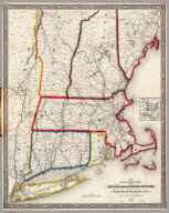 Railroad Map Of New England & Eastern New York