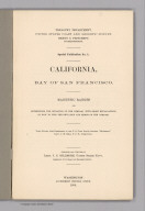 """(Title Page to) Treasury Department. United States Coast and Geodetic Survey. Special Publication No. 1. California, Bay of San Francisco. Magnetic Ranges for Determining the Deviation of the Compass, with Short Explanations of How to Find the Deviation and Error of the Compass. These Ranges were Determined by the U.S. Coast Guard Steamer """"McArthur,"""" Lieut. J.M. Helm, U.S.N. Commanding. Arranged and Compiled by Lieut. J.C. Gillmore, United States Navy, Assistant, U.S. Coast and Geodetic Survey. Washington: Government Printing Office. 1898."""