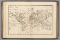 Chart of the World, on Mercators Projection
