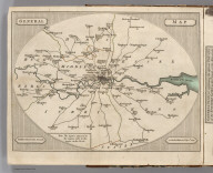 General Map (London Environs). Published by J. Cary, Strand, as the Act directs, July 1st, 1790.