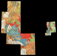 (Composite map of) Index of all Wheeler Geological Atlas Sheets