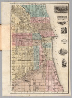 Guide Map Of Chicago 1867