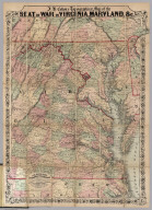Topographical Map of the Seat Of War In Virginia, Maryland