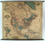 Lloyd's Topographical Railway Map of North America or the United States Continent in 1900...(On verso: Lloyd's New Map of the United States The Canadas and New Brunswick From The Latest Surveys Showing Every Railroad & Station Finished to June 1862... 1866).
