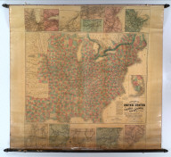 Lloyd's New Map of the United States The Canadas and New Brunswick From The Latest Surveys Showing Every Railroad & Station Finished to June 1862... 1866. (On verso: ) Lloyd's Topographical Railway Map of North America or the United States Continent in 1900....