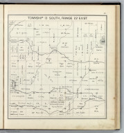 Township 13 South, Range 22 East. (Compiled, drawn and published ... by Thos. H. Thompson, Tulare, California, 1891)