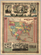Ornamental Map Of The United States & Mexico, 1855