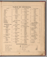 Table of Contents: Combination Atlas Map Of Ogle County, Illinois.