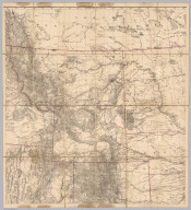 (Map of the Territory of the U.S. West of the Miss. Riv. Sheet no. 2. Prepared by authority of the Hon. the Secretary of War in the Office of the Chief of Engineers under the direction of Brig. General A.A. Humphreys Chief of Engineers and Brevet Maj. Gen. U.S. Army. By Edward Freyhold 1879)