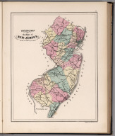 Outline Map of the State of New Jersey.