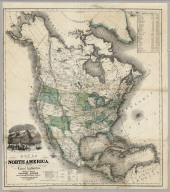 Map Of North America From The Latest Authorities