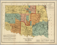 Map Of Indian Territory And Oklahoma