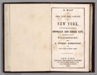 Title page: Map of New-York City