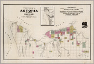 Map Of Astoria And Environs, Oregon