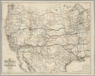 Map Of The Route Of The Southern Continental Rail Road