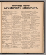 Text: Dover City Advertising Directory.