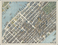 New York City Picture Map - a 3-D Map of Mid-town Manhattan.