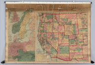 Watson's County And Railroad Map Of The Western States And Territories 1874. Watson's Western Map Depot, 64 Lake Street ... Chicago, Ills. R.A. Tenney, Manager. Entered ... 1871, by Gaylord Watson ... Washington ... (and) Map Of Norway, Sweden And Germany ... (On verso) Watson's New County And Railroad Map Of The United States And Of The Dominion Of Canada. Compiled From The Latest Official Sources. 1874. Entered ... 1872, by Gaylord Watson ... Washington. (with 5 inset maps).
