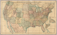 Stanford's Map Of The United States And Part Of The Dominion Of Canada. London: Published by Edward Stanford, 55 Charing Cross, September 1st 1875. (inset) Newfoundland, Nova Scotia, Cape Breton & Prince Edward Is.