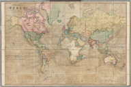 A New Chart of the World On Mercator's Projection With The Tracks Of The Most Celebrated & Recent Navigators. Engraved by John Dower, Pentonville. Published By Thomas Deacon & Co. Late H. Teesdale & Co. No. 1 Prujean Square St. Pauls & Sold by Simpkin, Marshall & Compy. Stationers Hall Court. New Edition. London, 1857. John Dower, Engraver, Cumming Place, Pentonville, London.
